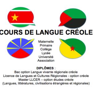 APPRENTISSAGE LANGUE CREOLE (Martinique, Guadeloupe, Ile de la réunion, Guyane)